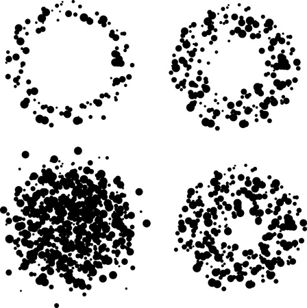 dot circles bubbles Vector