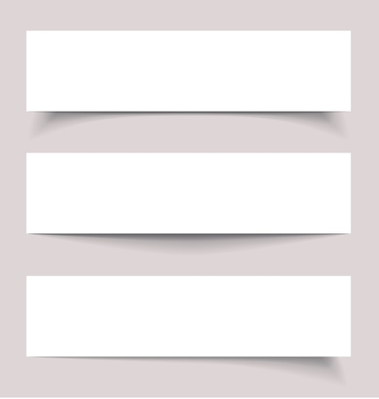 Banners with shadows, illustration Vector