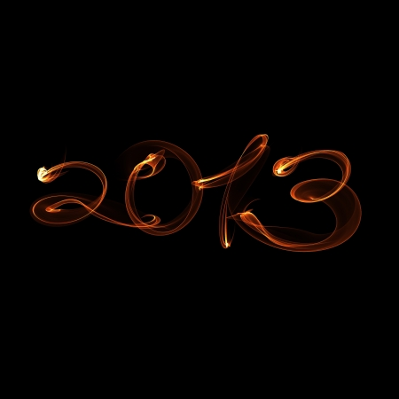 New Year 2013 fire flame Stock Photo - 15964918