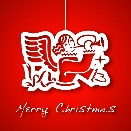 Christmas angel applique background Vector