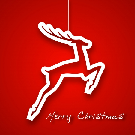 Christmas jump deer applique background Vector