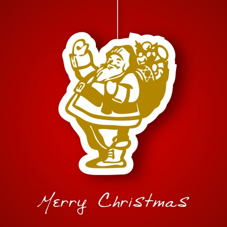 Santa applique background Vector