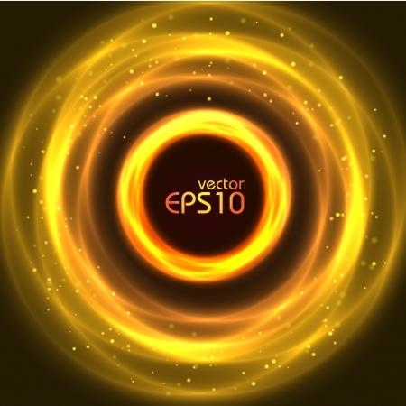 Abstract yellow glowing circle, vector illustration Stock Vector - 16442909