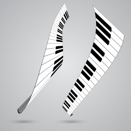 keyboard player: Piano keys, vector illustration Illustration