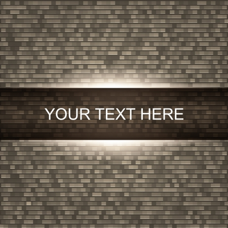 Brick wall background with light, illustration Vector