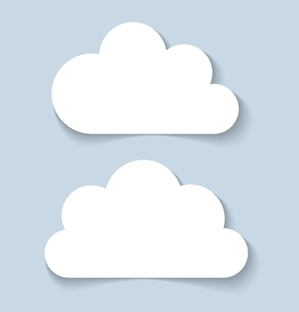 Clouds applique  banners,  illustration Vector