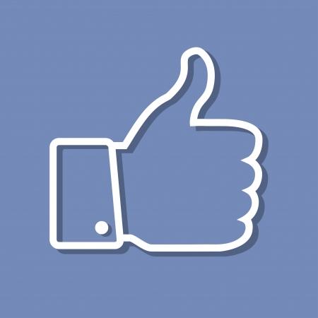 Thumb Up applique, web icon