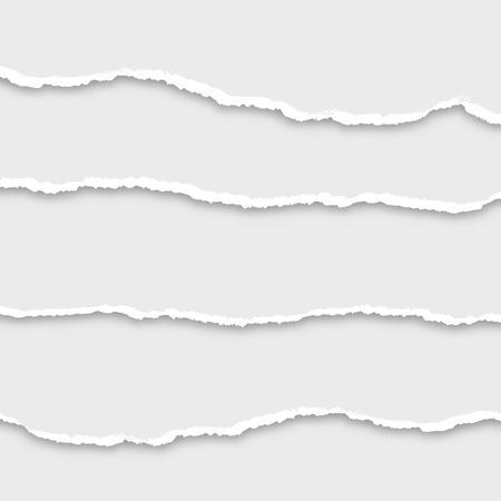 Juego de papel rasgado, ilustración vectorial Foto de archivo - 27458693