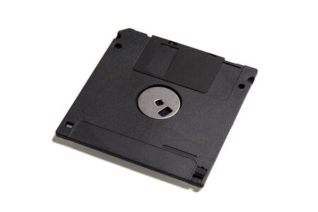 black floppy disk old format isolated on white background