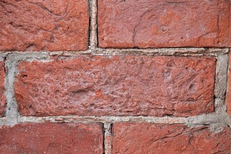 Old red brick wall background texture Stok Fotoğraf
