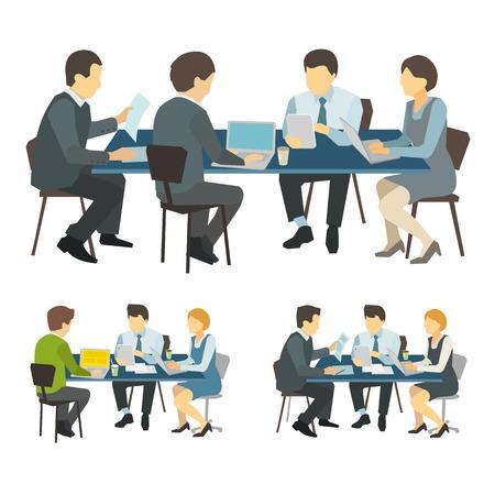 business discussion: Las personas que trabajan en el mostrador de la discusi�n de negocios el trabajo en equipo
