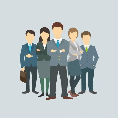 empresas: Negocios director del grupo jefe jefe. El personal de la empresa