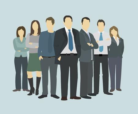 reuniones empresariales: Negocios director del grupo jefe jefe. El personal de la empresa
