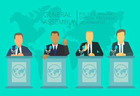 International Assembly, summit policy of government, nation, president The global situation meeting.