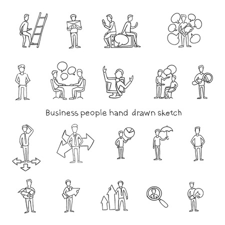 scribe: Office Team People Hand Drawn illustration