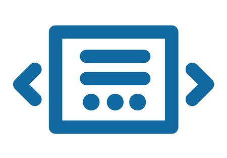 imagen: Icono del deslizador. Azul lacónico y simple. Parte de la interfaz del sitio Vectores