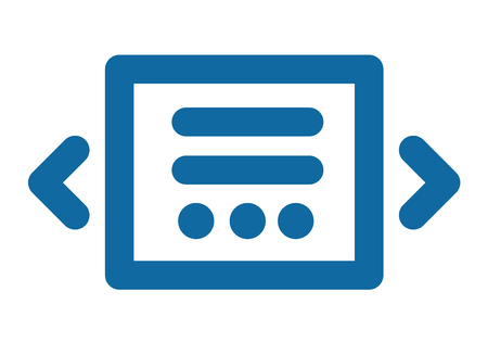 Slider icon. Blue laconic and simple. Part of the site interface Иллюстрация