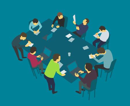 talks: Table talks. Team business people meeting conference