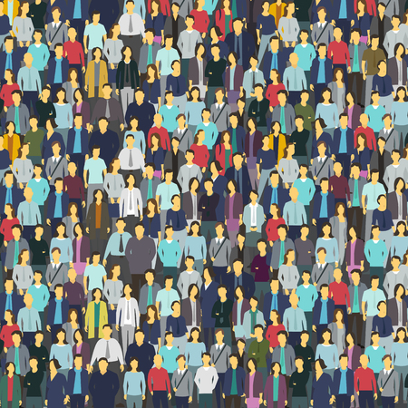 humankind: A lot of people, colorful texture. Background from the crowd Illustration