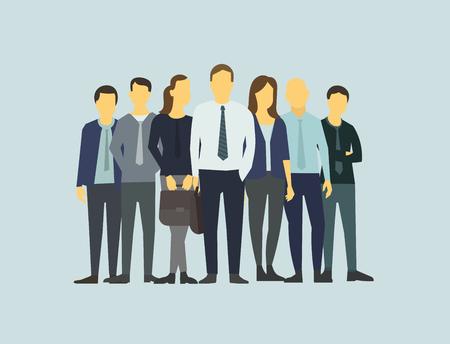 La gente de negocios de la empresa grupo de empleados de oficina.