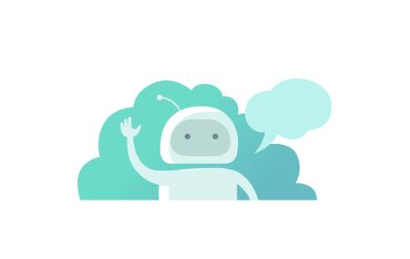 こんにちは世界プログラマ ロボット、彼の手を振っていると言っ