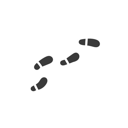 Footprints from shoes. Logo or icon. Simple, concise sign. Illustration