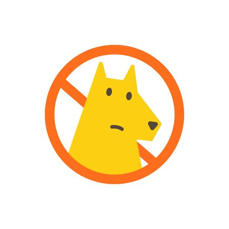 No dogs allowed. Dog walking is prohibited. Sign of the ban in the park. With a dog is impossible. No entry allowed.