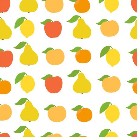 Fruits seamless pattern background.