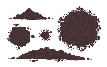 Soil for growing plants set.  イラスト・ベクター素材