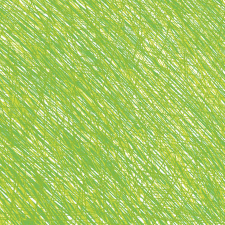 Pen tangled line green herbal pattern sketch. Hatched drawing picture. Hand drawn vector. Abstract background.
