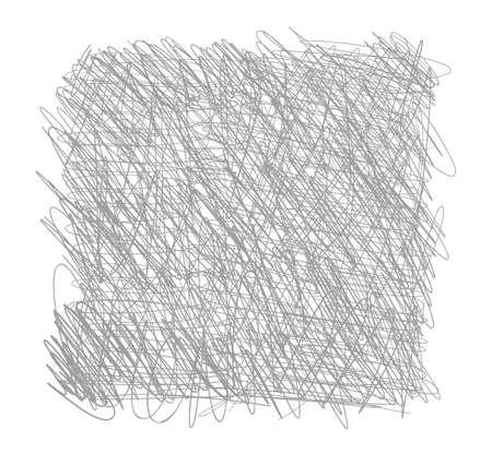 Pen tangled line square pattern. Hatched drawing sketch picture. Hand drawn vector. Abstract background.