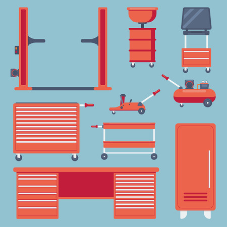 Set of garage equipment.