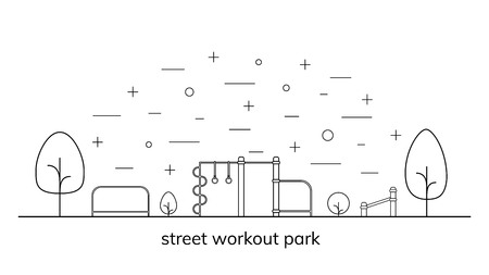 Street workout place or park. Stock Illustratie