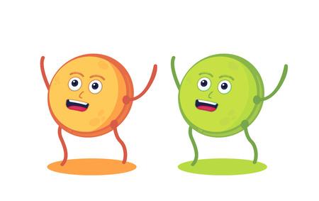 Lentils seeds character. Healthy food. Vegan protein resource food. Banco de Imagens