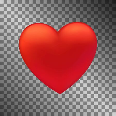 Heart icon. UI element. Symbol of love and Valentine s Day. Vector illustration with translucent background. Vettoriali