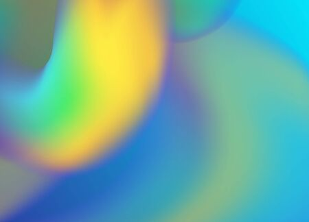 Abstract background with gradient color shapes. Liquid color cover. Holographic shape element. Vector background