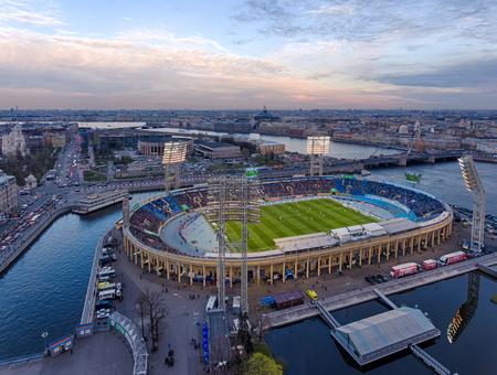 """Stadion """"Petrowski"""". Fußballspiel Zenit-Krasnodar. Sankt Petersburg. Russland-1"""