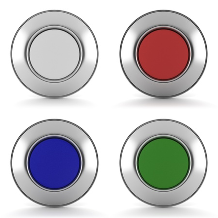 Button icons for website design Stock Photo - 21769889