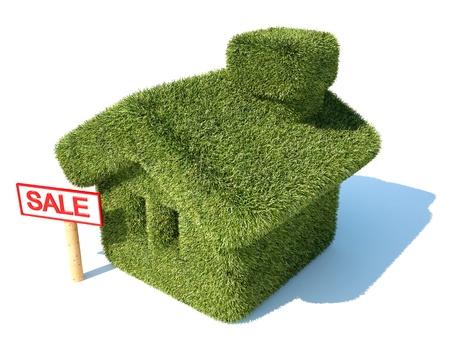 businnes: Environmentally friendly green house for sale Stock Photo