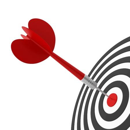 Just hit a dart at a target Stock Photo