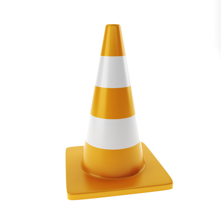 trafic: Trafic cone on a white background isolated