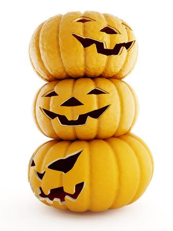 Pumpkin emotion on a white background. Halloween. photo