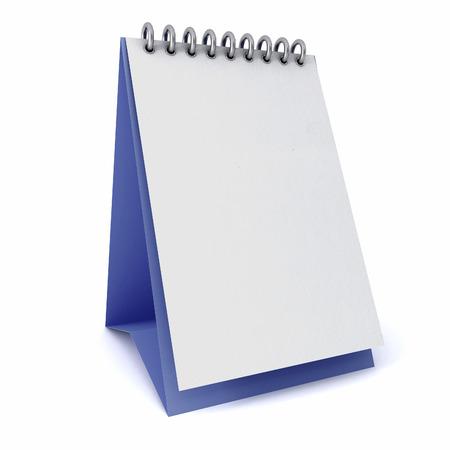 Kalender wit sjablonen op blauwe ondergrond op een witte achtergrond geà ¯ soleerd Stockfoto