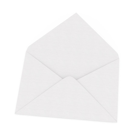 Envelope open on a white background isolated photo