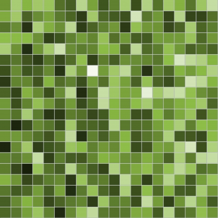 Tiles made of green mosaic. Texture  photo