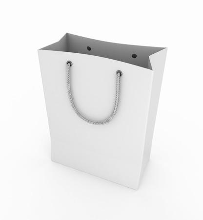 Empty shopping bag on white background Stock Photo