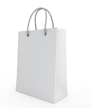 One shopping bag isolated on a white background