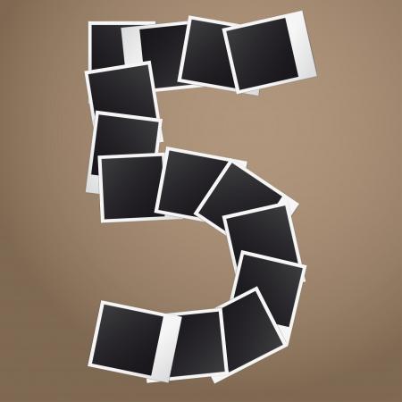 Figuur vijf van Polaroid foto's.