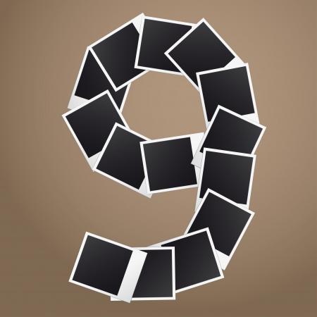 Nummer negen van Polaroid foto's.