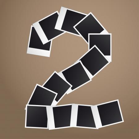 Figuur twee van Polaroid foto's. Stock Illustratie